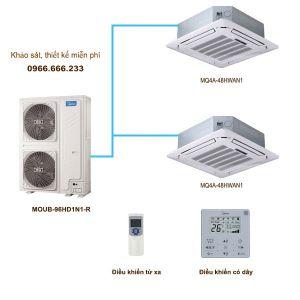 Điều hòa multi Midea MQ4A-48HWAN1/MOUB-96HD1N1-R 26kW 2 chiều Inverter