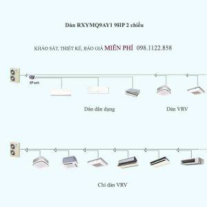 Điều hòa trung tâm Daikin VRV 4S RXYMQ9AY1 9HP 2 chiều