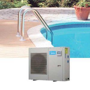 Máy nước nóng lạnh trung tâm bơm nhiệt Midea LRSJ-120/NYN1-A1 40m3