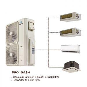 Dàn Nóng Điều Hòa Multi ActronAir MRC-100AS-4 9.85kW 2 Chiều
