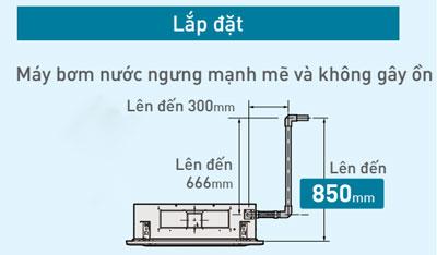 dieu-hoa-cassette-am-tran-panasonic-S-36PU1H5B-U-36PN1H8-bom-nuoc-ngung-manh-me