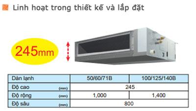 dieu-hoa-am-tran-noi-ong-gio-FBA100BVMA-RZF100CVM-linh-hoat-lap-dat
