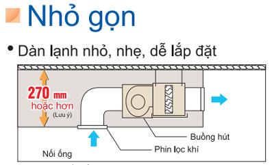 dieu-hoa-am-tran-noi-ong-gio-FDBNQ13MV1V-RNQ13MV1V-thiet-ke-nho-gon